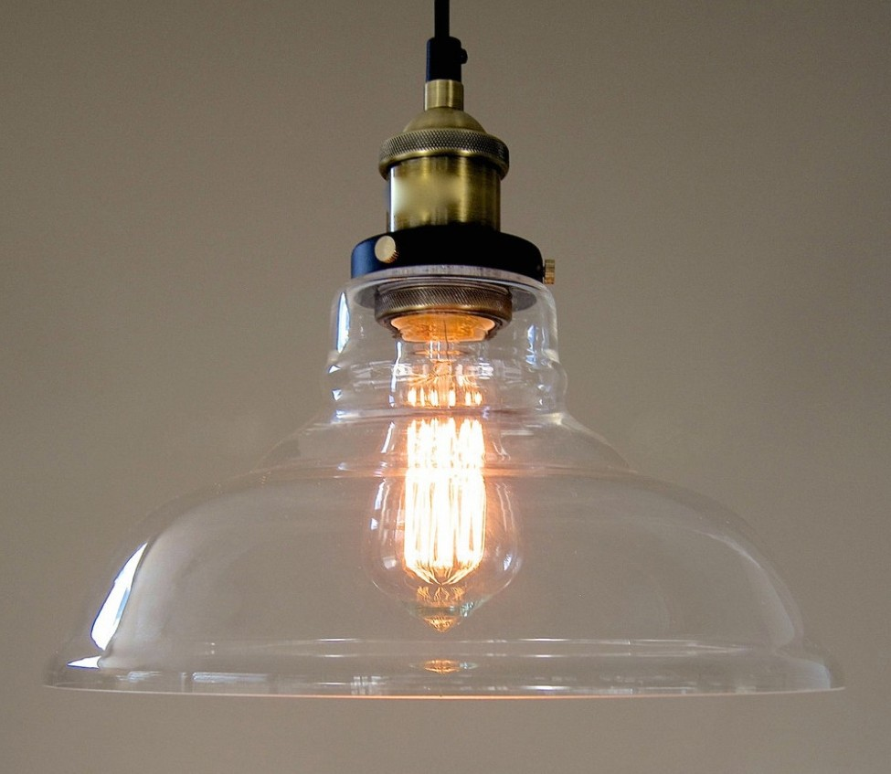 Industrial glass hanging pendant lamp by ecopower mnml living industrial glass hanging pendant lamp by ecopower aloadofball Images
