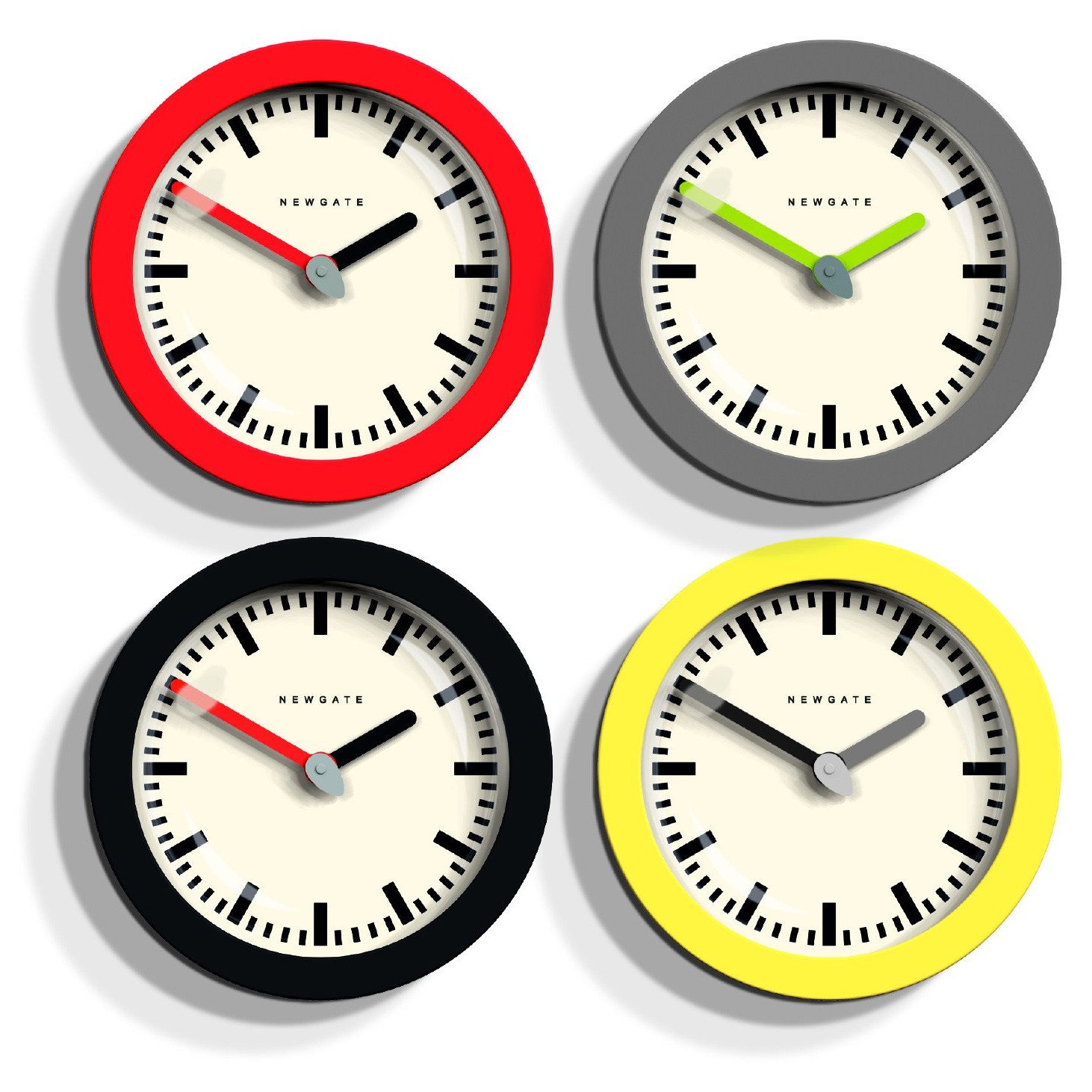 "Colorful and Bold Pop Art ""Andromeda"" Wall Clocks by Newgate"