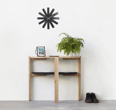 Example Use and Size of the Minimlaist's Umbra Ribbon Wall Clock