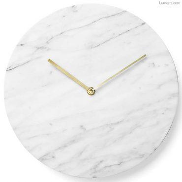 Carrara White Marble Wall Clock by Menu
