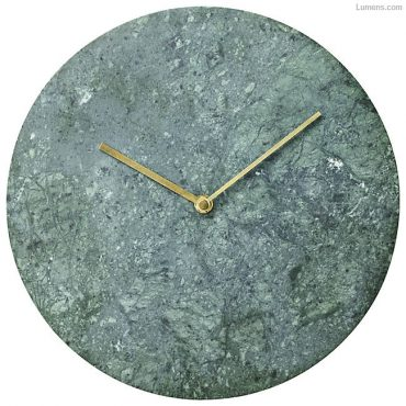 Verde Guatemala Green Marble Wall Clock by Menu