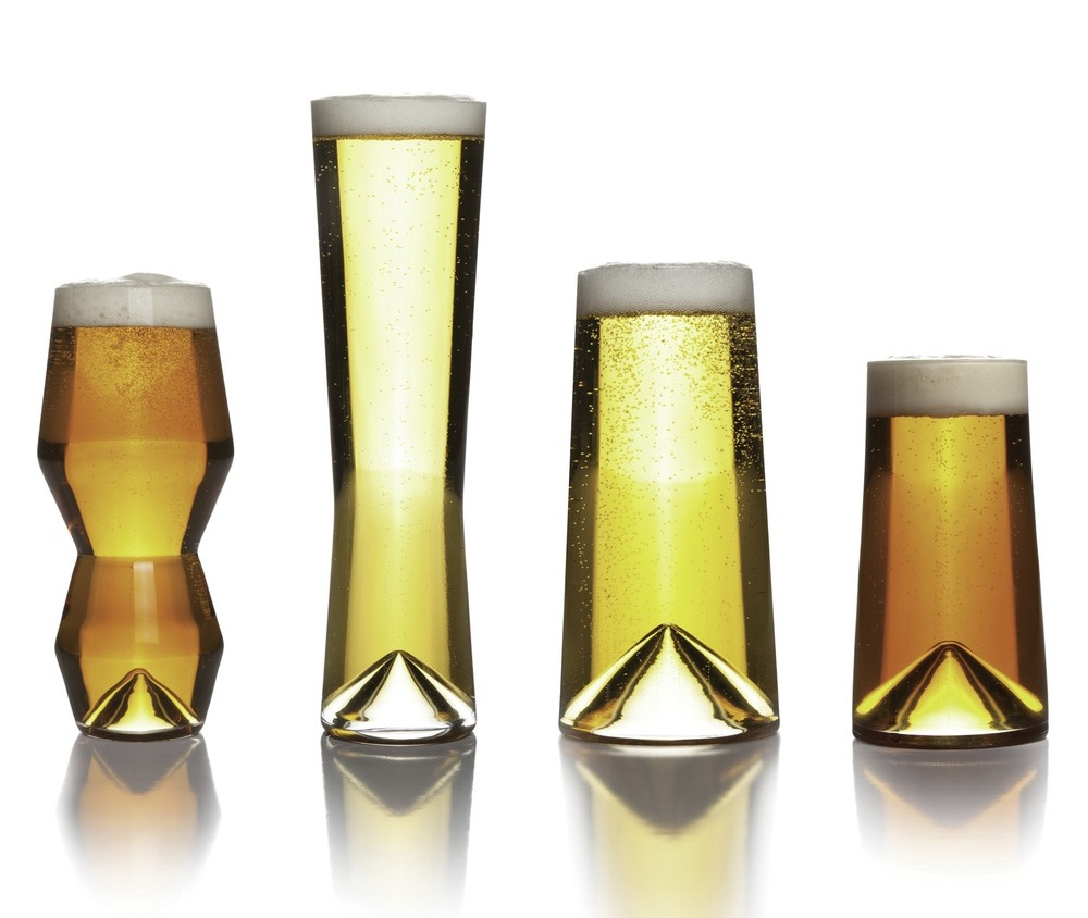 "Geometric Crystal ""Monti-Taste"" Beer Glass Set by Sempli"