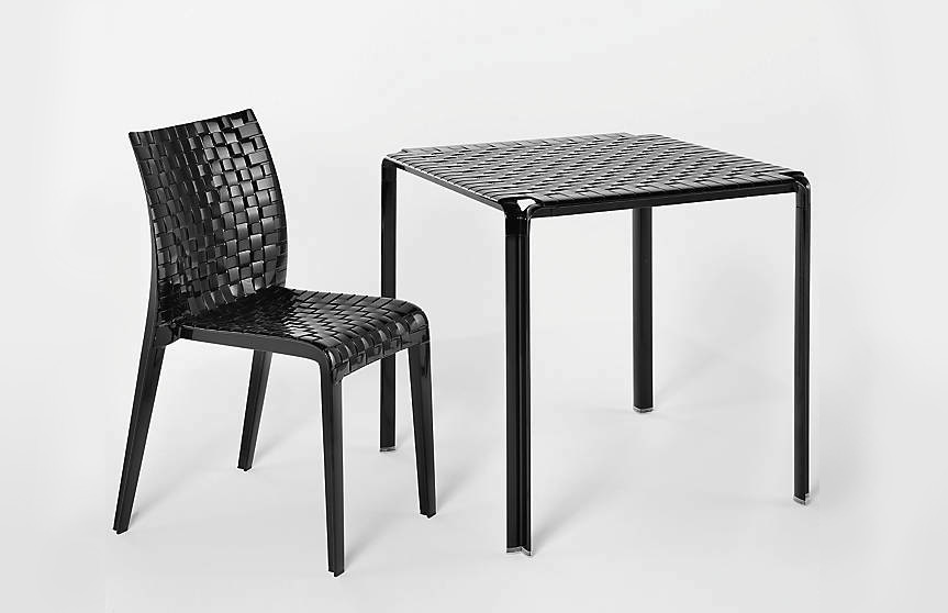 "Minimalism Meets Garden, ""Ami Ami"" Woven Patio Table & Chair by Kartell"