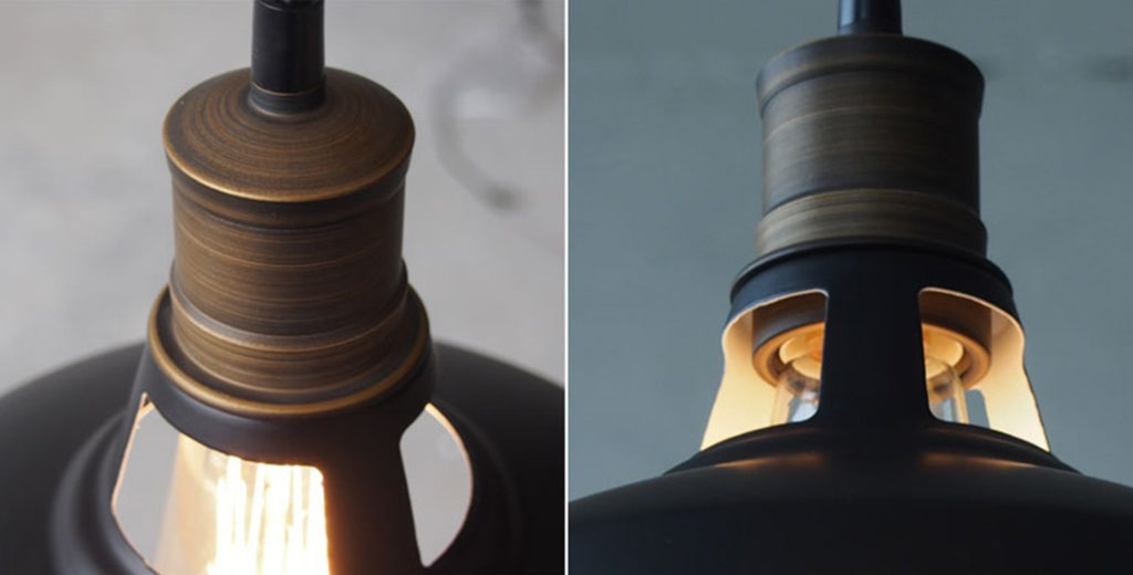 Detailed look at the Black Industrial Minimalist Hanging Pendant Light by CLAXY