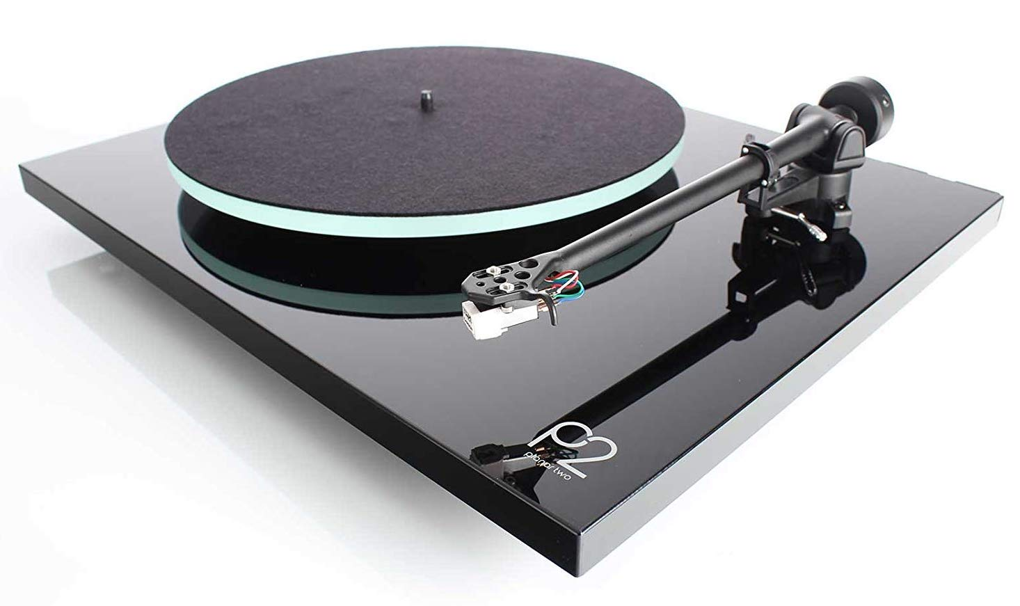 REGA P2 Contemporary Black Turntable, Simple Design