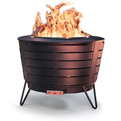 tiki low smoke fire pit wood burning